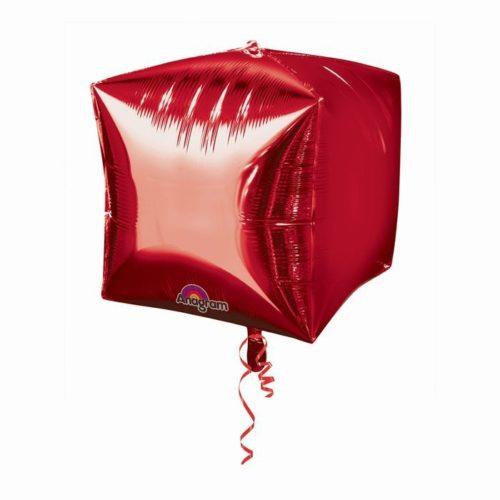 Шар 38 см 3D КУБ Красный