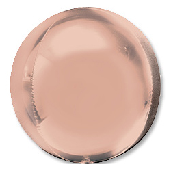 Шар 41 см 3D СФЕРА Розовое Золото