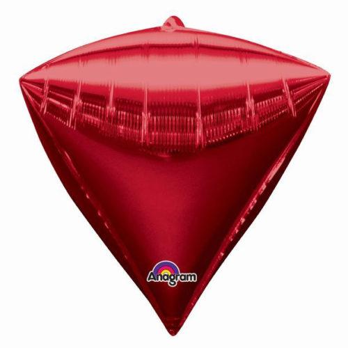 Шар 44 см 3D АЛМАЗ Красный
