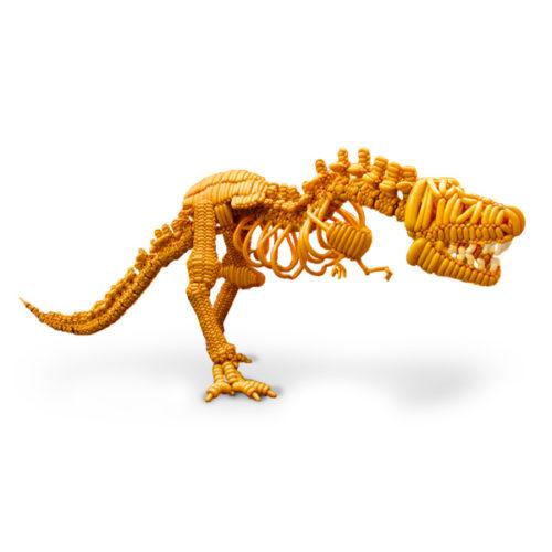 Скелет тиранозавра из воздушных шаров