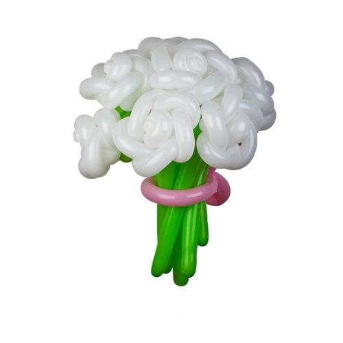 Букет из 9 белых роз из воздушных шаров