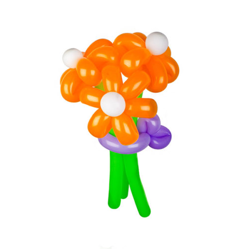 Букет из 3 оранжевых ромашек из воздушных шаров