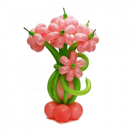 Букет из 5 розовых цветов