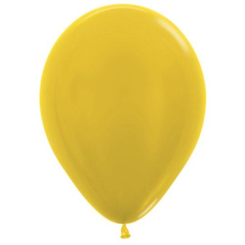 Шар 30 см металлик Желтый 520