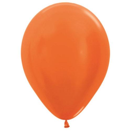 Шар 30 см металлик Оранжевый 561