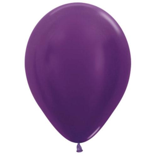 Шар 30 см металлик Фиолетовый 551