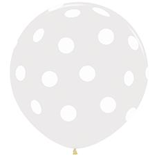 Шар 91 см Белые точки Прозрачный Кристалл