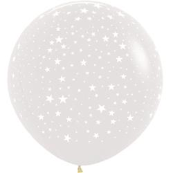 Шар 91 см Звезды Прозрачный Кристалл