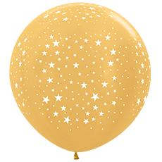 Шар 91 см Золото яркое Металлик