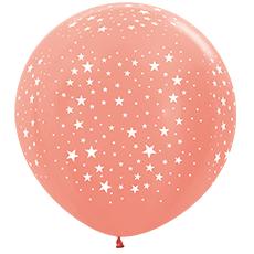 Шар 91 см Розовое золото Металлик