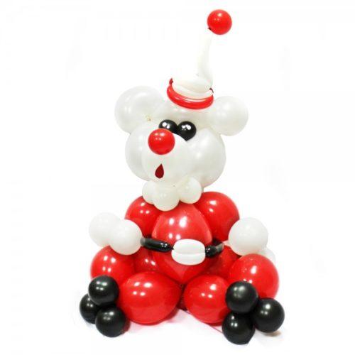 Мишка-Мороз из воздушных шаров