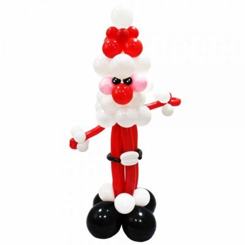 Худой Дед Мороз из воздушных шаров
