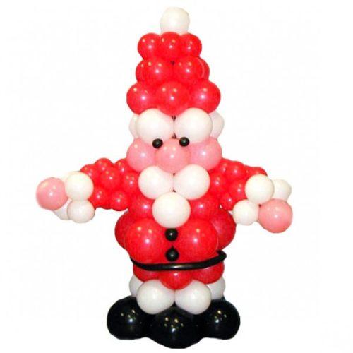 Пухлый Дед Мороз из воздушных шаров