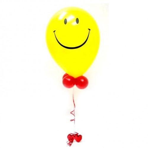 Фонтан с одним смайликом из воздушных шаров
