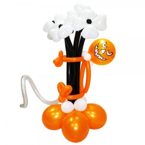 Ужасный букет от Мистера Тыквы из воздушных шаров