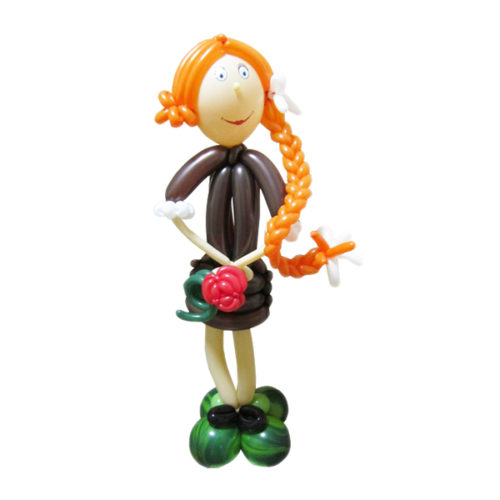Рыжая девочка из воздушных шаров