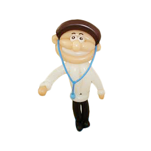 Усатый доктор с очками из воздушных шаров