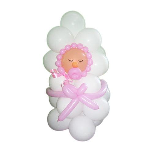 Новорожденный с соской из воздушных шаров