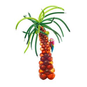 Пальма с попугаем из воздушных шаров