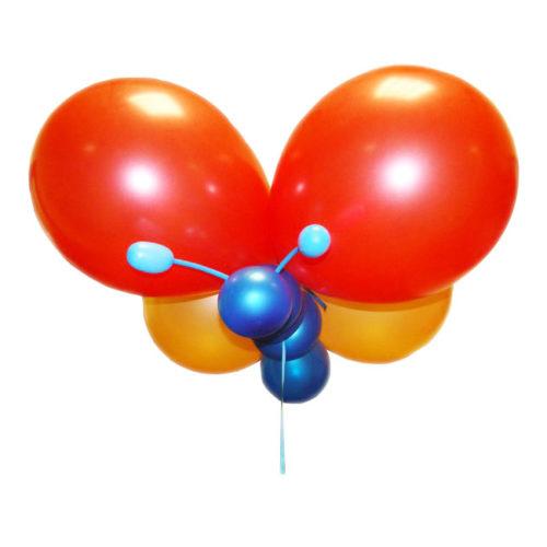 Оранжевая бабочка из воздушных шаров