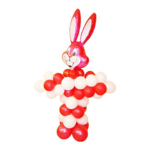 Цирковой заяц из воздушных шаров