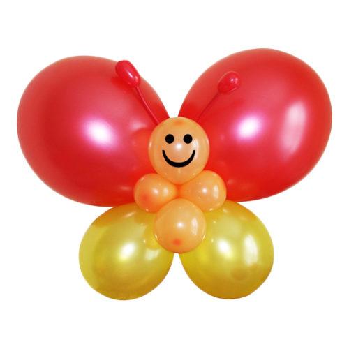 Красно-желтая бабочка из воздушных шаров