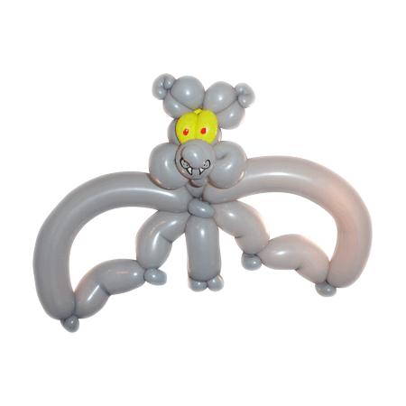 Серая летучая мышь из воздушных шаров