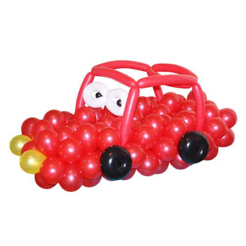 Красная тачка из воздушных шаров
