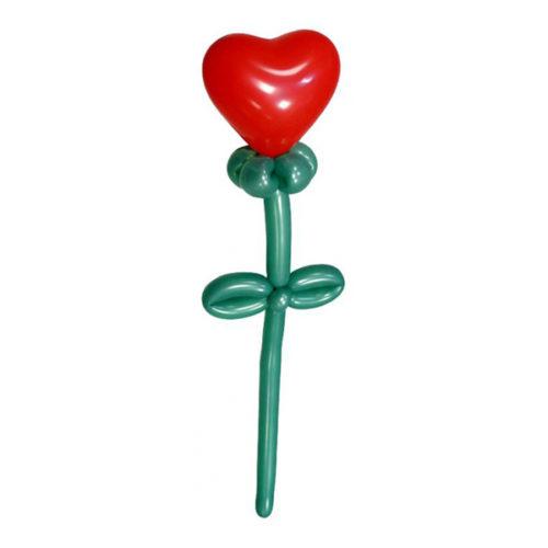 Цветок-сердце из воздушных шаров