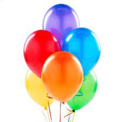 Набор из 5 разноцветных воздушных шаров одного размера