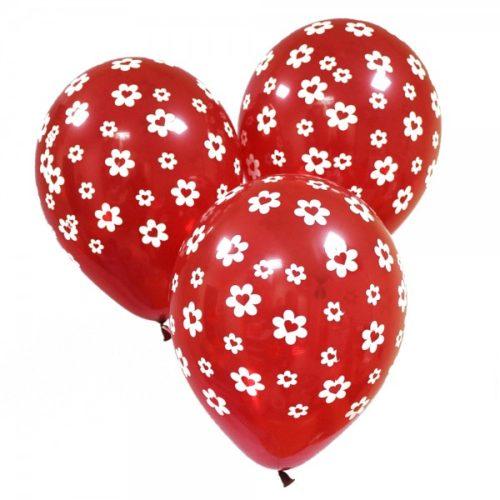 Набор из 3 красных воздушных шаров с рисунком одного размера