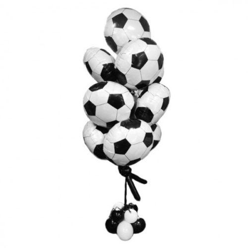 Фонтан из футбольных мячей - воздушных шаров