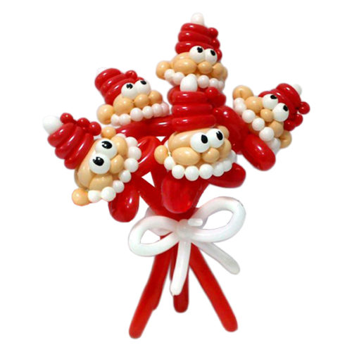 Букет Дедушек Морозов из воздушных шаров