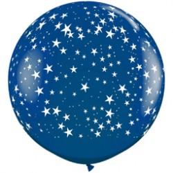 Шар 91 см Звезды, Синий, кристалл