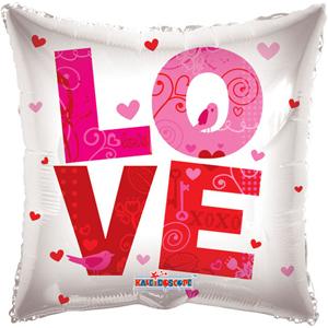 Шар 46 см Квадрат Любовь