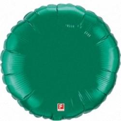 Шар 46 см Круг Зеленый вариант 1