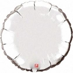 Шар 46 см Круг Серебро