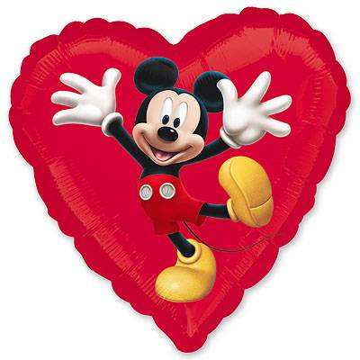 Шар 46 см Сердце Микки