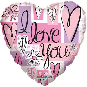 Шар 46 см Сердце Пастель