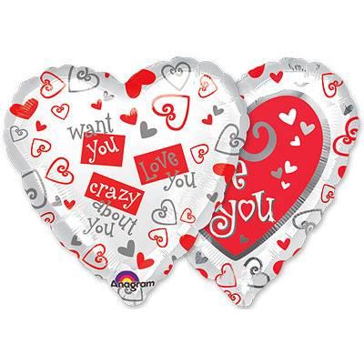 Шар 46 см Сердце Просто с любовью