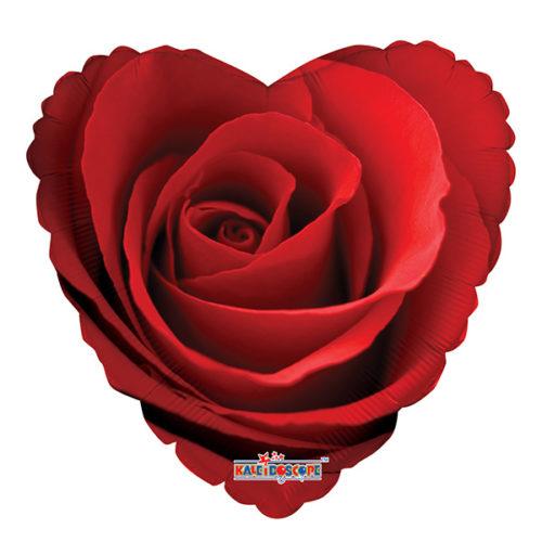 Шар 46 см Сердце Сердце Роза красная