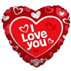 Шар 46 см Сердце Я тебя люблю красное
