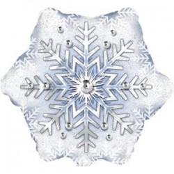 Шар 56 см Круг Снежинка Голография