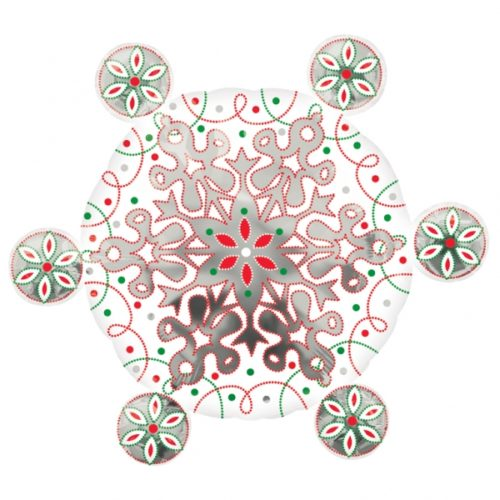 Шар 68 см Фигура Снежинка