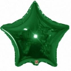 Шар 81 см Звезда Зеленый