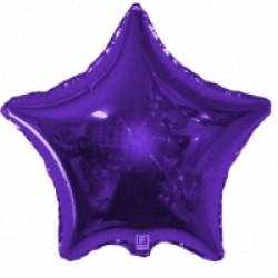 Шар 81 см Звезда Фиолетовый