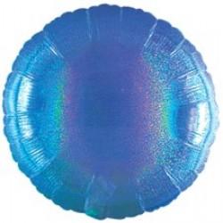 Шар 81 см Круг Синий Голография