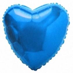 Шар 81 см Сердце Синий