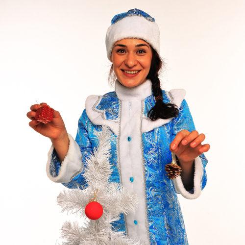 Живая открытка - Поздравление от Снегурочки с шарами