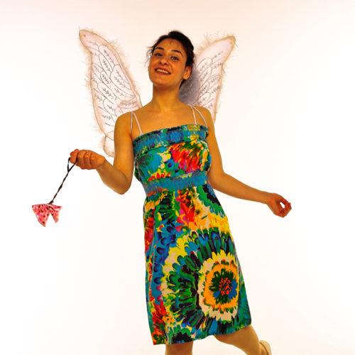 Живая открытка - Поздравление от Феи цветов с шарами